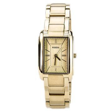 Fossil ES2985 Women's Adele Gold Tone Dial Gold Plated Steel Bracelet Watch