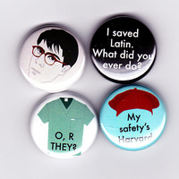 Max Fischer - Rushmore Badge Set! - I saved latin & other quotes -  jason schwartzman, wes anderson