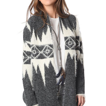 Q2 Cardigan In Holidays Pattern