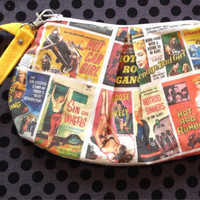 Classic pulp movie poster Clutch Style bag