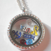 U.S. Navy - Armed Services / Veterans Locket - Includes locket, charms, and FREE chain