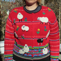 tacky christmas sweater, tacky sweater, tacky christmas, tacky sweater party, tacky holiday, tacky holiday clothes, red sweater,