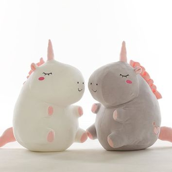 1pc 25cm unicorn plush toy fat unicorn doll cute animal stuffed soft pillow baby kids toys for girl birthday christmas gift