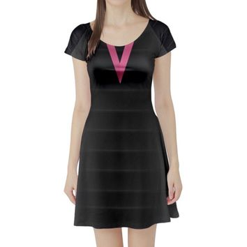 Edna Mode The Incredibles Inspired Short Sleeve Skater Dress