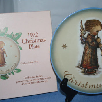 Schmid Collector Plate Christmas 1972, Collectible Vintage ,Home decor