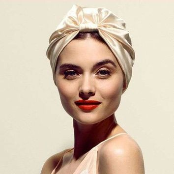 Fashion women luxury Silky silk stretchy turban headwrap soft chemo cap for hair loss Bandana Hijab Turbante Hat for ladies