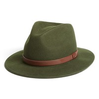 Men's Brixton 'Messer' Wool Fedora - Green