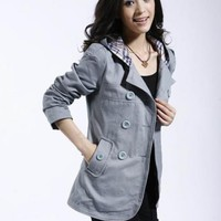 Hooded Casual Jacket Women Short Paragraph$40.00