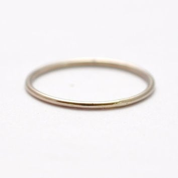 White Gold Wedding Band 14K Rings Thin Tiny Delicate Dainty Slim Skinny Simple Cheap Affordable Inexpensive Womens