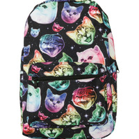 Neon Cats In Space Backpack
