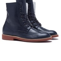 Wingtip Boot - Navy