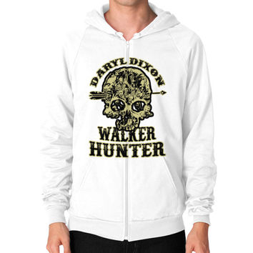 Daryl dixon walker hunter Zip Hoodie (on man)