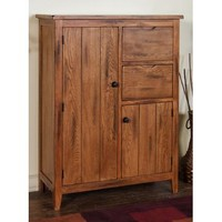 Sunny Designs Sedona Cupboard In Rustic Oak