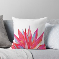 'Sunny Agave Fringe Illustration' Throw Pillow by oursunnycdays