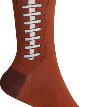 Football Crew Socks in Brown