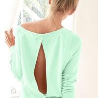 Boxy Cut-out Pullover - Fleece - Victoria's Secret