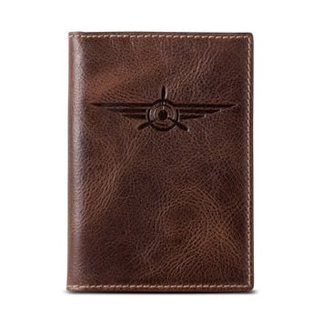 LINDBERGH Passport Case•PERSONALIZED•Leather Passport Wallet•Travel Wallet•Leather Passport Holder•Document Wallet•Travel Gift•Aviation