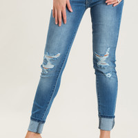 Gina Light Washed Ripped Jeans