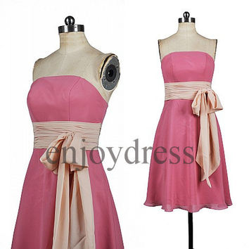Custom New Short Bridesmaid Dresses 2014 Formal Prom Dresses Hot Homecoming Dress Fashion Party Dress Ball Gowns Evening Dresses