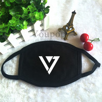 Youpop KPOP SEVENTEEN Logo Dust Cotton Mouth-muffle Face Mask Maschere Antipolvere Masques KZ148