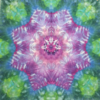 tie dye tapestry or wall hanging in purple pink green blue