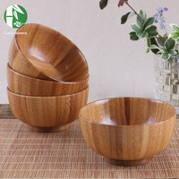 Natural wooden bowls Chinese food containers bamboo tableware kitchen mixing bowl soup noodle rice dinner dishes for children