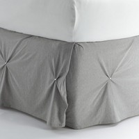 Juicy Couture Pinch Tuck Bed Skirt - Twin (Grey)