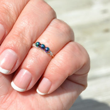 Rainbow Hematite Galaxy Knuckle Ring - Above the Knuckle Simple ring Delicate Dainty Midi Ring Hipster Semi Precious Healing Stone