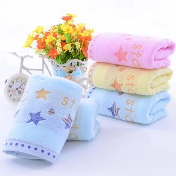 3PCS*LOT 3 Colors Bear Stars Moon Genuine Jacquard Face Hand Towel High Quality 34cm*74cm 100% Pure Cotton Brand Bath Towel Set