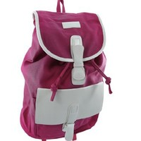 Classy Canvas Backpack White Vinyl Accents