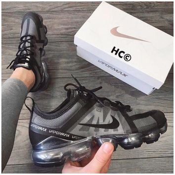 Nike WMNS Air Vapormax 2019 Trending Men Women Breathable Air Cushion Sport Shoes Sneakers Black