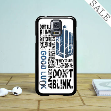 Police Box Tardis Doctor Who Dont Blink Samsung Galaxy S5 Case