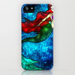 The Mermaids Song iPhone Case by Mandie Manzano | Society6