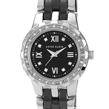 Women's Anne Klein Crystal & Ceramic Bracelet Watch, 25mm
