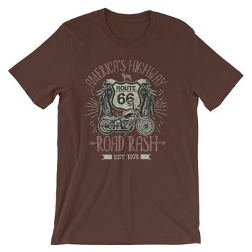 America's Highway Road Rash Route 66 Short-Sleeve Unisex T-Shirt