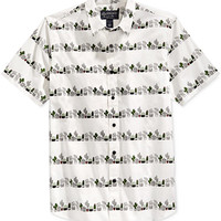 American Rag Men's Cactus Stripe Graphic-Print Short-Sleeve Shirt, Only at Macy's - Casual Button-Down Shirts - Men - Macy's