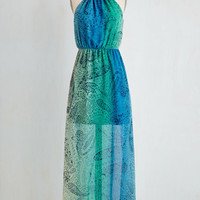 Boho Long Sleeveless Maxi Paisley Days of Summer Dress