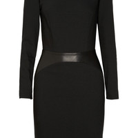 L'Agence | Leather-detailed crepe dress | NET-A-PORTER.COM