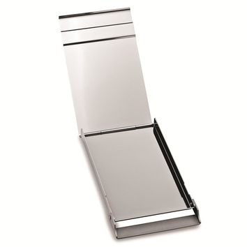 Silver-tone Vertical Opening Business Card Case