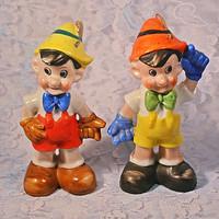 FREE SHIPPING Pinocchio Salt And Pepper Shakers, Disney Collectibles