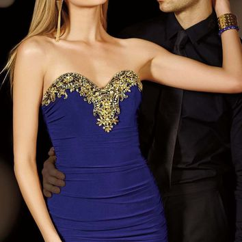 Alyce Paris - Homecoming - 4384 Dress in Purple Gold