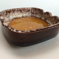 Groovy German Mid Century Classic Drip Glaze Vintage Ashtray Trinket Tray