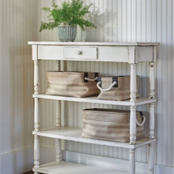 Rustic, Storage Shelving with drawer