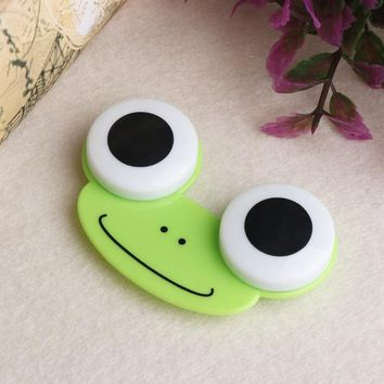 1PCS Sweet Cartoon 3D Big Eyes Contact Lenses Box Case Owl Frog Animal Shape Contact lens Case