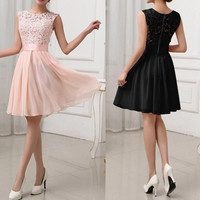 Formal Lace Chiffon Dress