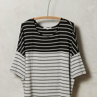 Doublestripe Tee by Anthropologie Grey