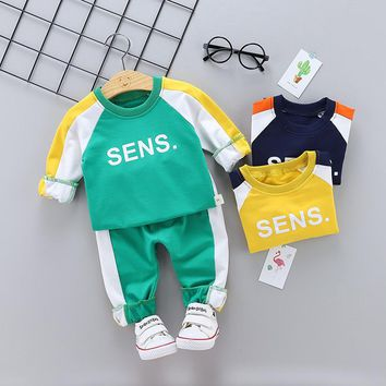 Toddler Boys Clothing Set Letter Long Sleeve Boutique Kids Clothing Sets Autumn Girls Clothes Outfits Casual Children Tracksuit