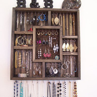 Shadowbox Jewelry Organizer