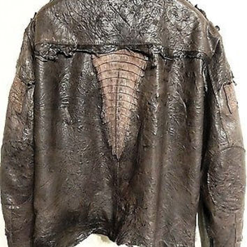 G-Gator Chocolate Crocodile/Lamb Skin Biker Jacket