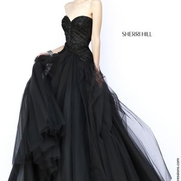 Sherri Hill 32137 Strapless Ball Gown Prom Dress
